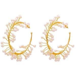 🌈2/$30 New Zara Faux Pearl Hoop Earrings